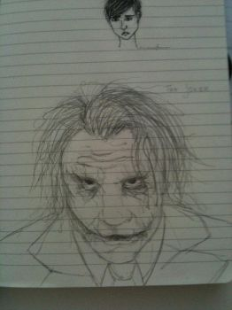 The Joker Sketch by Madmoisielle
