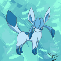 Glaceon doodle by SassCannon