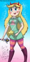 Star Butterfly (a color) by migueruchan
