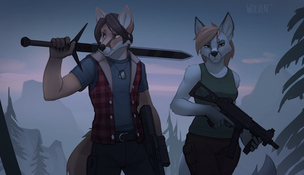 Duo [Commission] by ItsWolven