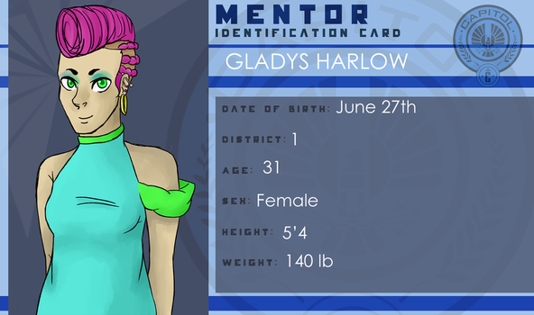 District 1 Mentor, Gladys Harlow by ObsessedXShipper