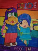 Pride Month Couple  by NicoleTheKoopa