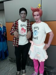 Prince Bubblegum and Marshal Lee by F0XBLAZE
