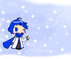 KAITO in the Snow by KikiTheKitty