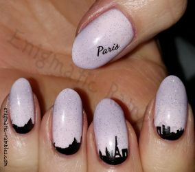 Paris Skyline Nails by EnigmaticRambles