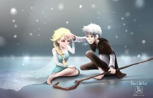Elsa and Jack frost by Tan-staR