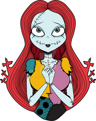 Sally - Nightmare Before Xmass (Sticker Example) by NightDreams16