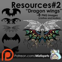 Dragon Wings Resources Set by Mistiqarts