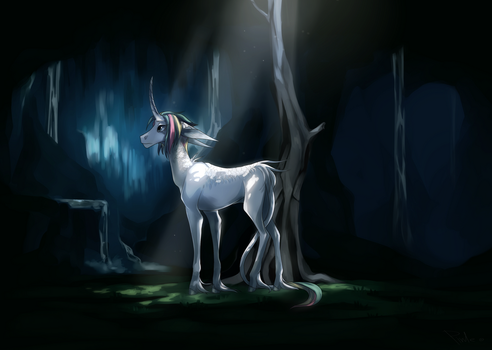 The unicorn's cave by PinLe
