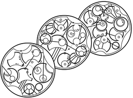 Gallifreyan 009 - WIP, Teapot, Lines 1-3 by ThorUF72