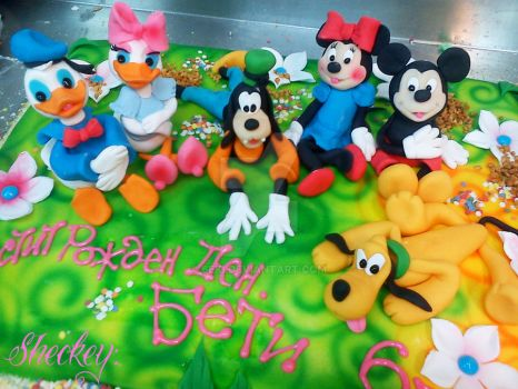 Mickey Mouse and friends Cake by 6eki