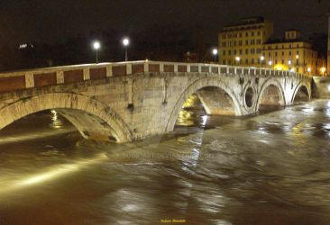 The Tiber River during the flood by Book-Art