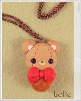 Clay Flurry Bear by LolleBijoux