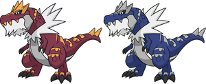 Shiny Tyrantrum Dream World by KrocF4