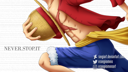 One Piece - Never stop it by SergiART