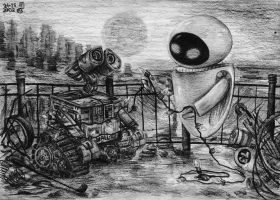 Wall-E and EVE by Ari-chaan