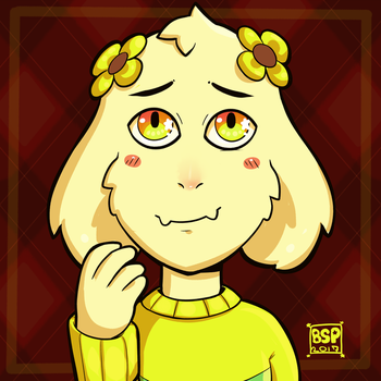 Asriel in gold by Blustarpilot