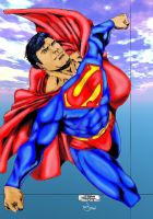 Superman enjoying a Flight by thewookie57