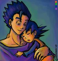 DBZ: Brotherly Love by lauraneato