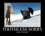 Toothless Sorry by 6SeaCat9