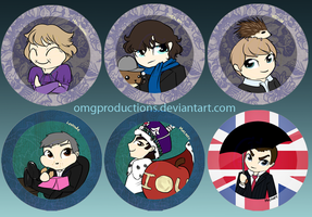 Sherlock buttons by OMGProductions