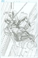 Spider-Man and Scarlet Spider commission pencils by seanforney