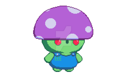 Little Mushroom Man (Pixel Art) by EEEnt-OFFICIAL