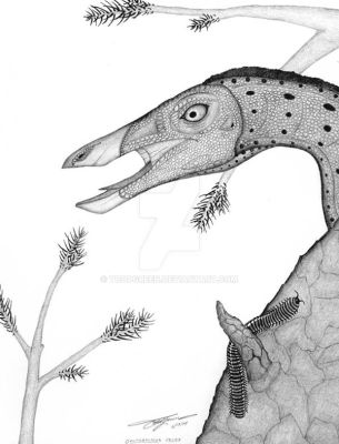 Ornithomimus velox by ToddGreen