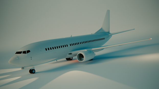 Boeing 737-300 by blenderednelb