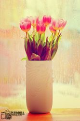 Tulips and Rain by Cute-And-Bright