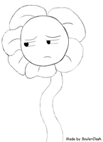Flowey - Alone in the Underground! - Sketch. by SoulerClash