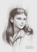 Audrey Hepburn as a young girl by FiRez-DA