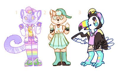 colorful adopts | OTA | CLOSED by irlnya