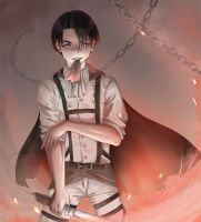 The Igneous Corporal (Levi Ackerman Fanart) by Poleron402