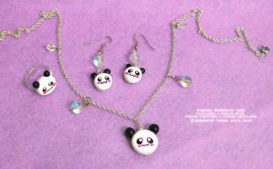 Panda Jewelry Set by xlilbabydragonx