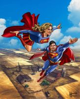 CHRISTOPHER AND ALEXANDRA REEVE by hamletroman