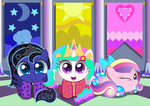 Celestia and Luna's Royal Slumber Party by SpellboundCanvas