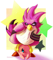 Kirby Collab - Coo the Owl by Turquoisephoenix