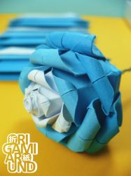 Easy Fancy Paper Rose WIP 001 by OrigamiAround