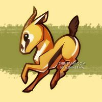 Gazelle chibi by ShinePawArt