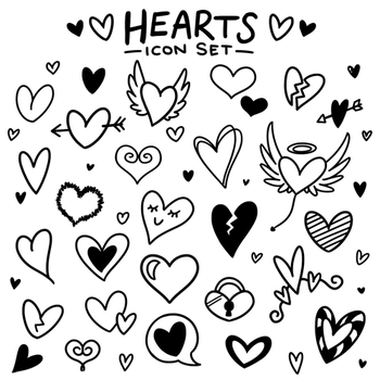 Hearts icon set by Nuvvola