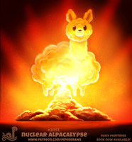 Daily Paint 2051# Nuclear Alpacalypse by Cryptid-Creations