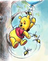 Winnie the Pooh and the Honey Tree by zdrer456