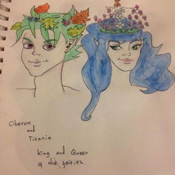 Oberon and Titiana by Itchywitchygirl