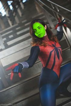 spider Green Mask by Girls-Loki-MASK