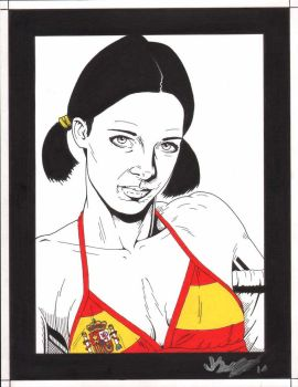 Lina in Spanish Bikini by Knifley