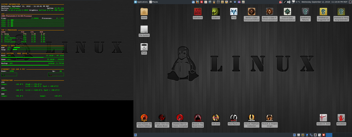 September 2018 Desktop - Arch Linux and Xfce by hamishpaulwilson