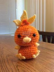 Torchic chibi crochet with PATTERN!!!! by uchihacrush