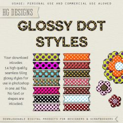 PS Styles: Glossy Dots by HGGraphicDesigns