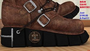 Man Cave Boots by DrCreep